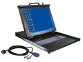LCD Console with Integrated 8 port KVM Switches